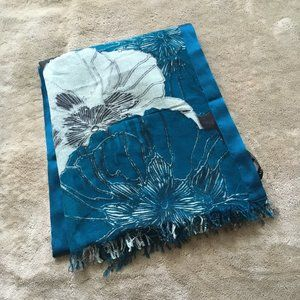 Banana Republic blue and white floral scarf